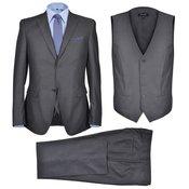 vidaXL Muško trodijelno poslovno odijelo velicina 56 antracit sivo