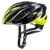 UVEX kolesarska čelada Boss Race, črna-zelena