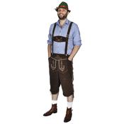 VIDAXL usnjene hlače s klobukom za Oktoberfest