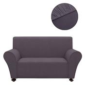 VIDAXL raztegljiva prevleka za kavč (bombaž, džersi), siva