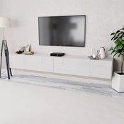 vidaXL TV Ormaric od Iverice 2 kom 120x40x34 cm Visoki Sjaj Bijela (2x244870)