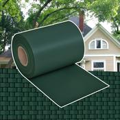 vidaXL Omotac za ograde PVC tkani zeleni 70 x 0,19 m