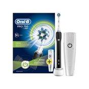 Oral-B PRO 750 Cross Action električna četkica za zube + futrola za putovanje