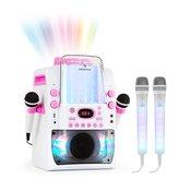 auna Kara Liquida BT roza barva + Dazzi set mikrofonov, naprava za karaoke, mikrofon, LED osvetlitev (PL-1561_1952)