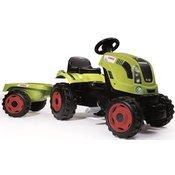 Smoby djecji traktor s pedalama i prikolicom Class, zeleni