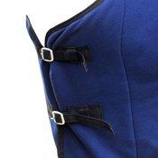 vidaXL Vuneni Pokrivac za Konje s Pojasom 115 cm plavi