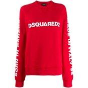 Dsquared2 - logo print sweatshirt - women - Red