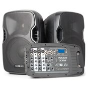 Vexus PSS302, Prijenosni PA audio sustav, 300 W max., Bluetooth, USB, SD, MP3, 2 x stalak, 1 x mikrofon