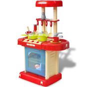 VIDAXL otroška kuhinja s svetlobnimi in zvočnimi učinki