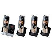 PANASONIC bežični telefon telefon KX-TG6724GB Quattro sa AB + 3x slušalice