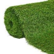 VIDAXL umetna trava (1x8m/40mm), zelena