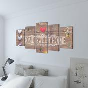 VIDAXL set platen s printom Home Sweet (100x50cm)