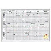 Franken Franken Tabla za godišnje planiranje JK710 Bijela Magnet 90 cm x 60 cm