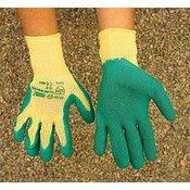Griffy Pletene rukavice, GREEN-GRIP od lateksa, vel. 8