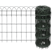 vidaXL Proširena niska ograda za travnjak, 10 x 0,65 m