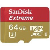 Memorija MicroSD 64GB Sandisk Extreme 60MB/S UHS 1, 67006
