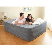 INTEX napihljiva postelja z vgrajeno črpalko Comfort-Plush MID Queen (152x203x56cm), (164418), siva