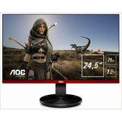 Monitor 24.5 AOC LED G2590VXQ, FHD, 1ms, 250cd/m2, 20.000.000:1, D-Sub, DVI, HDMI, crni