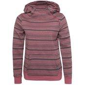 SUBLEVEL ženski pulover s kapuco ETHNO-PRINT, rdeč