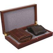 FORNAX Set kožni ženski 204-2 novčanik+rukavice braon 401947