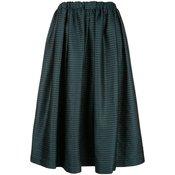Comme Des Garçons-high-waisted midi skirt-women-Blue