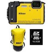 NIKON COOLPIX W300 rumen+SD16GB+nahrbtnik