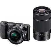 SONY set za kompaktni fotoaparat Alpha 5100 (16-50mm + 55-210mm objektiv), črn