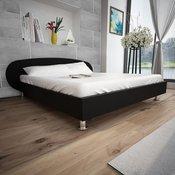 vidaXL Crni Krevet od umjetne kože 180 x 200 cm