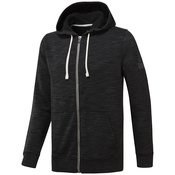 Reebok ELEMENTS MARBLE GROUP FULL ZIP, muška jakna za fitnes, crna