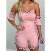 Top in kratke hlače REBBECA, roza
