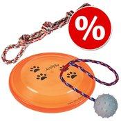 3-delni set igrač za pse Trixie - vrv, frizbi, žoga