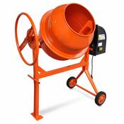 vidaXL Celicna mješalica za beton,140 L 650 W, narancasta
