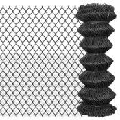 Žičana ograda 15 x 1 m čelična siva