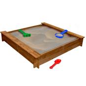 VIDAXL kvadratni drveni pješcanik