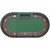 VIDAXL poker miza za 10 igralcev (prostor za delilca in pladenj žetone), zelena