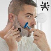 KOMPLET! Model za brado z glavniki + lovilec obrezane brade HASENDAD