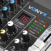 Vonyx VMM-K802, 8-kanalna mikseta, bluetooth, USB-Audio-Interface, 16 DSP, +48 V fantomsko napajanje