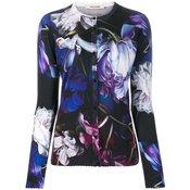 Roberto Cavalli - floral print cardigan - women - Blue