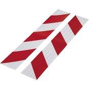 TOOLCRAFT Traka za upozorenje RTS 1564046 TOOLCRAFT (D x Š) 400 mm x 60 mm crvena, srebrna 1 komplet