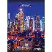 Street beležka Skyline City, A6, črtna, 40 listov