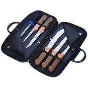 KDS set 5 mesarskih noževa i brusilice Profi Line, bukva