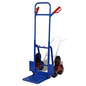 VIDAXL ročni transportni voziček za stopnice 6, moder