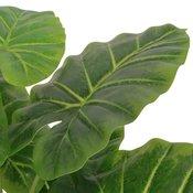 vidaXL Umetna rastlina kolokazija v loncu 70 cm zelene barve