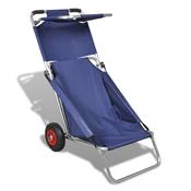 Prijenosna kolica, stolice, stol, tri u jednom, plava za plažu