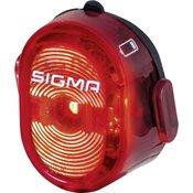 Sigma Zadnja luč za kolo Sigma NUGGET II Akumulatorsko Rdeča, Črna