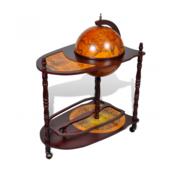 VIDAXL globus bar kabinet voziček
