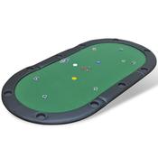vidaXL Podloga za stol poker,10 igraca,sklopiva zelena