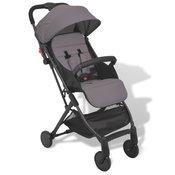 VIDAXL zložljivi otroški voziček (89x47.5x104cm), siv