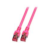 EFB Elektronik LAN (RJ45) Mreža Prikljucni kabel CAT 6 S/FTP 30 m Magenta Vatrostalan, Bez halogena, sa zaštitom za nosic, pozlaceni kontakti E