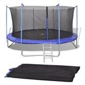 VIDAXL varnostna PE mreža za 4.26 okrogel trampolin